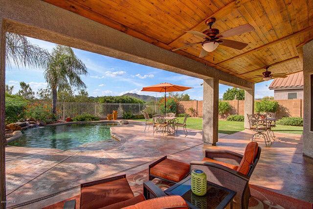 backyard of a home in Glendale, Arizona